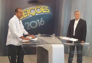 Em BH, Kalil e João Leite trocam farpas no último debate antes da eleição Foto: Evandro Éboli