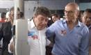 No ABC. Carlos Grana, candidato à reeleição em Santo André, recebe Eduardo Suplicy durante evento de campanha Foto: Divulgação