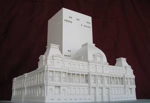 Maquete. Projeto do arquiteto Paulo Mendes da Rocha (não realizado) para o Museu Nacional de Belas Artes Foto: Divulgação