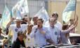 O candidato do PRB, Marcelo Crivella, faz carreata de Rio das Pedras até Santa Cruz