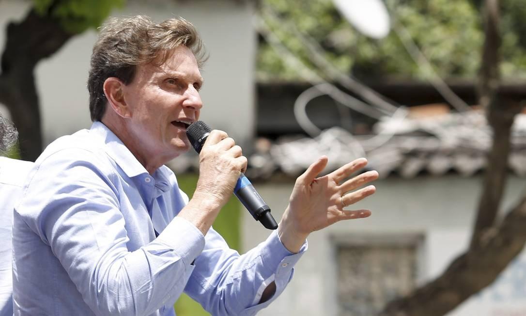 Ele fez campanha acompanhado durante todo o trajeto pelo candidato derrotado do PSDB, Carlos Osorio Foto: Fabio Rossi / Agência O Globo
