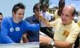 Os candidatos à prefeitura de Fortaleza, Capitão Wagner (PR) e Roberto Claudio (PDT)