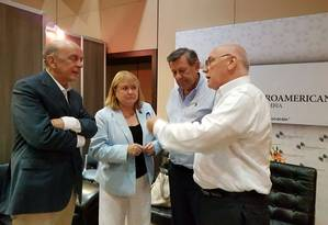 José Serra (esquerda) e chanceleres Susana Malcorra (Argentina), Rodolfo Nin Novoa (Uruguai) e Eladio Loizada (Paraguai) Foto: Divulgação