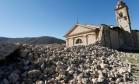 Igreja de Santo Antônio, em Nórcia, foi parcialmente destruída pelo terremoto Foto: REMO CASILLI / REUTERS