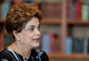 Ex-presidente Dilma Rousseff durante entrevista para BBC Foto: Roberto Stuckert Filho/10-10-2016 / Agência O Globo