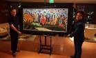 João Doria, prefeito eleito de São Paulo, foi presenteado com um quadro de Romero Britto Foto: Divulgação