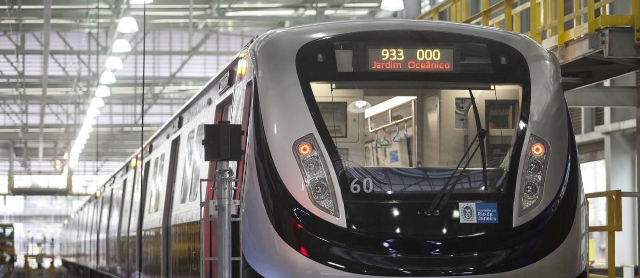 Metrô da Linha 4 começa a operar aos sábados Foto: Márcia Foletto