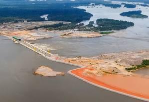 A usina hidrelétrica de Belo Monte, no Rio Xingu Foto: Divulgação / PR
