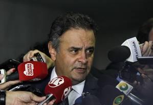 O senador Aécio Neves (PSDB-MG) Foto: Givaldo Barbosa / Agência O Globo