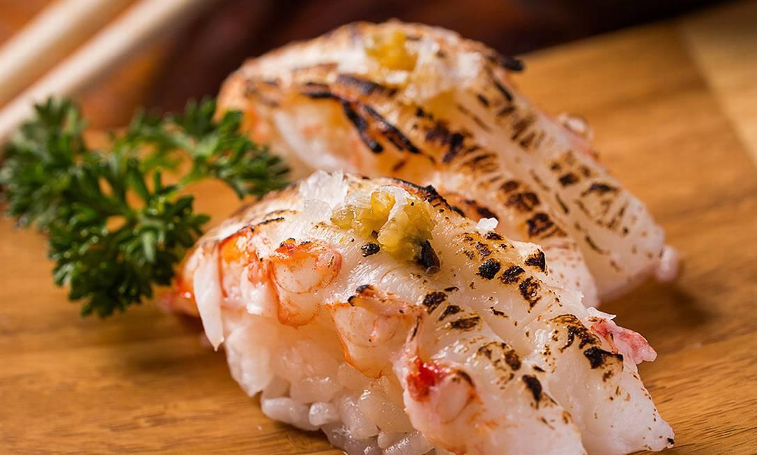 Minimok, dupla de lagostins com yuzu brulée Filico / Divulgação/Filico