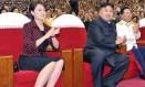 Líder norte-coreano, Kim Jong-un, e sua esposa, Ri Sol-ju, aparece ao lado do marido em público em 2012 Foto: KCNA