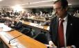 O então deputado Protógenes Queiroz, durante sessão do Conselho de Ética que analisou processo contra ele, por quebra de decoro
