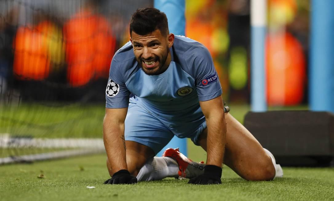 O argentino Sergio Agüero foi um dos prinicipais nomes da vitória do Manchester City sobre o Barcelona Jason Cairnduff / REUTERS