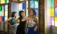 Iaras e iras. A partir da esquerda, as cantoras Juliana Linhares, Duda Brack e Júlia Vargas