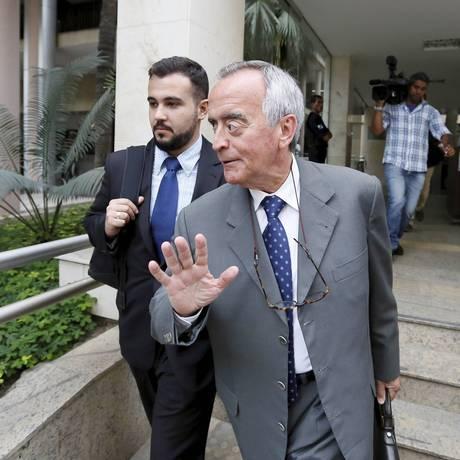 O ex-diretor da Petrobras Nestor Cerveró na Justiça Federal, no Rio Foto: Pablo Jacob / Agência O Globo / Arquivo / 01/08/2016