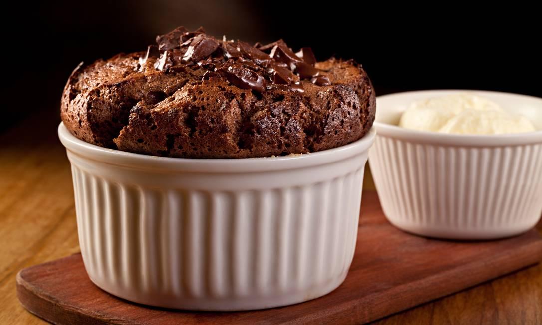 Brigite´s. Souffle di Cioccolato e Nocciola: suflê de chocolate e avelã com sorvete de creme (R$ 24) Rodrigo Azevedo / Divulgação
