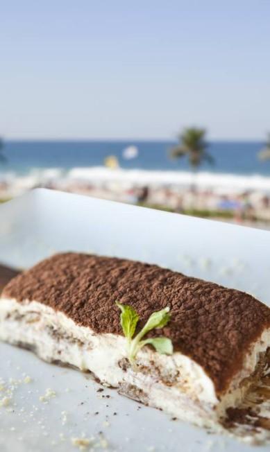 Gabbiano Al Mare. Tiramisù clássico (R$22) biscoito de champagne, mascarpone, café e licor Carla Alves / Divulgação