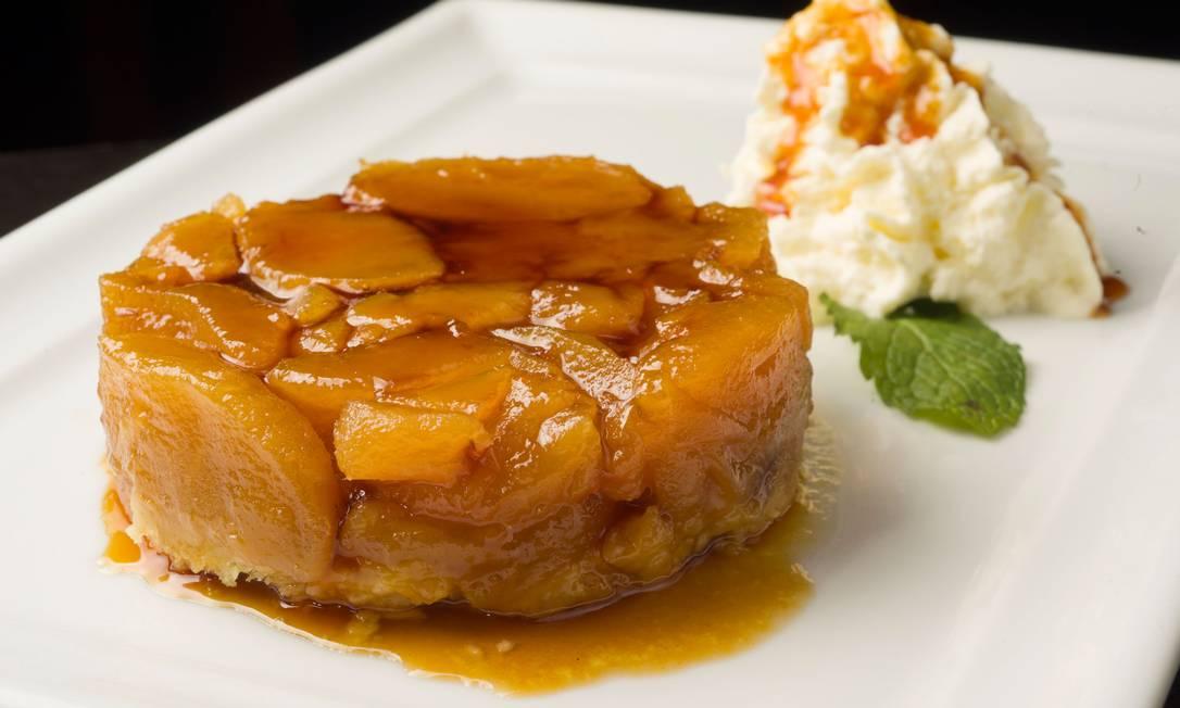 La Fabrique: Torta Tatin tradicional de maçã com chantillly (R$ 25) Bruno de Lima / Divulgação