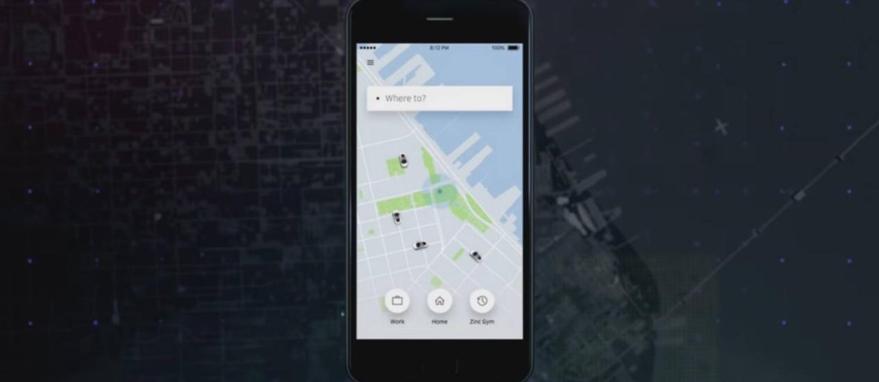 Nova versão do Uber conta com visual mais simplficado e novas funções Foto: Reprodução