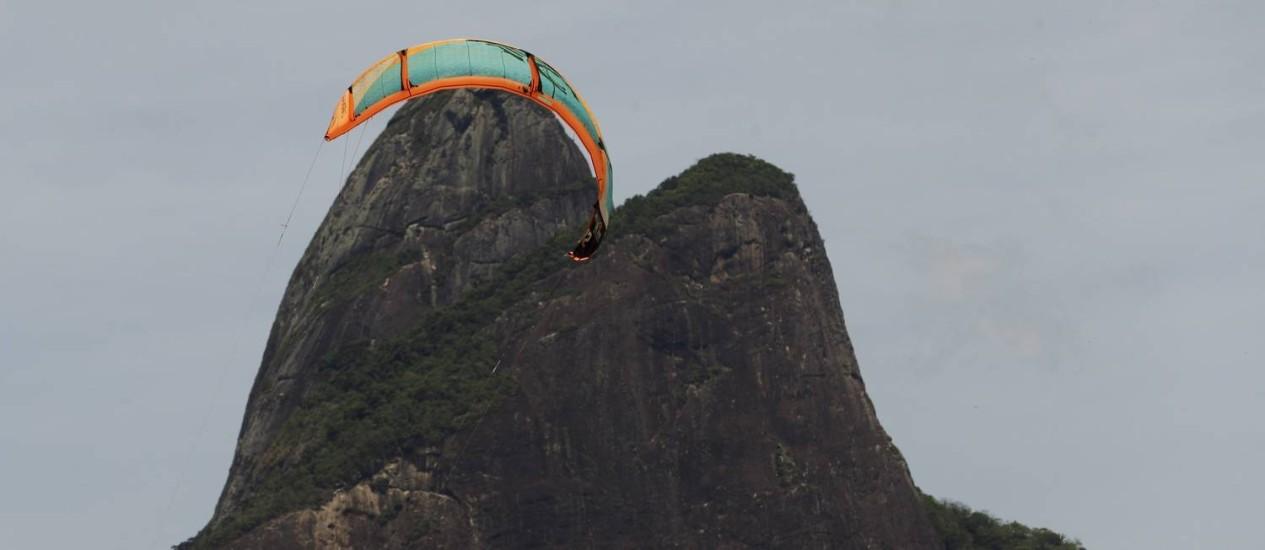 Ventos na Zona Sul do Rio passou dos 60km/h Foto: Gabriel de Paiva / Agência O Globo
