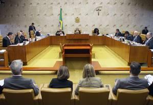 Plenário do Supremo Tribunal Federal Foto: Divulgação 03/11/2016