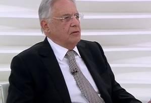 O ex-presidente Fernando Henrique Cardoso em entrevista ao programa 'Roda Viva' Foto: Reprodução