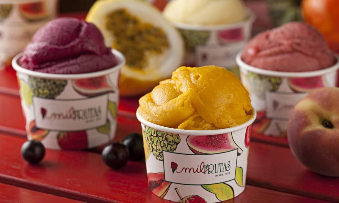 Melhor sorvete: Mil Frutas Foto: Rodrigo Azevedo / O GLOBO
