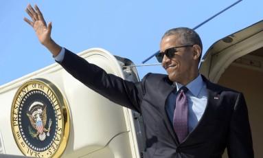 Obama no Air Force One Foto: Susan Walsh / AP