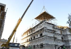 Prédio da empresa curitibana Tecverde foi erguido em cinco dias Foto: divulgação