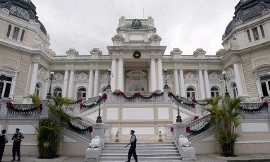 CI Rio de Janeiro (RJ) 12/12/2008 - Palácio Guanabara todo enfeitado para o Natal. Foto Pablo Jacob / Agência O Globo Foto: Pablo Jacob / Agência O Globo