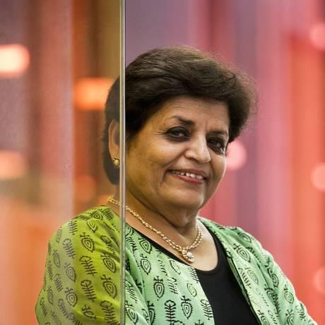 'A compreensão é fundamental para ser um cidadão do mundo', avalia a indiana Vishaka N. Desai Foto: Agência O Globo / Guito Moreto