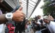 Na Uninove, em São Paulo, candidatos correram contra o fechamento dos portões