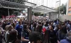 Candidatos chegam para fazer o Enem de 2016 na Uninove, em São Paulo Foto: Agência O Globo