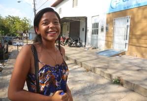 Danielly Sousa, de 16 anos Foto: Efrém Ribeiro