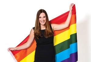 Em julho de 2016, Sarah McBride foi a primeira transgênero a subir ao palco da Convenção Nacional Democrata Foto: Jeff Watts / Reprodução