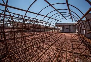 Obras no presídio de Águas Lindas, em Goiás Foto: ANDRE COELHO / Agência O Globo