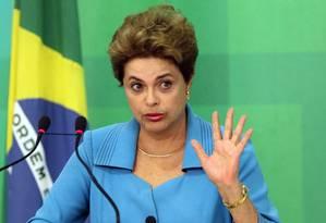 Ex-presidente Dilma Rousseff dá palestra neste sábado, nos Estados Unidos Foto: Givaldo Barbosa / O Globo - 18/04/2016