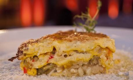 Lasanha vegetariana do chef Romano Fontanive Foto: Adriana Lorete / Agência O Globo