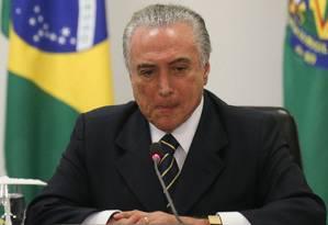 O presidente Michel Temer no Palácio do PLanalto Foto: André Coelho / Agência O Globo 07/11/2016