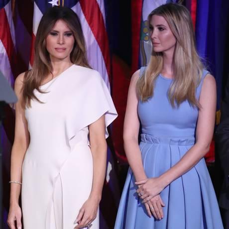 Melania e a enteada, Ivanka Trump Foto: MARK WILSON / AFP