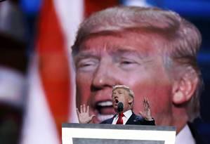 Em julho, Donald Trump fala na Convenção Nacional Republicana em Cleveland Foto: Carolyn Kaster / Agência O Globo