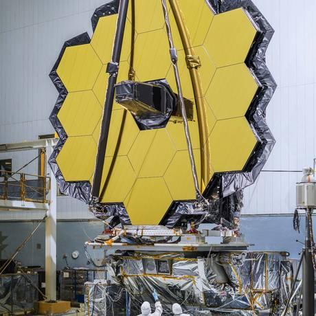 Espelho principal do Telescópio James Webb tem 6,5 metros de diâmetro Foto: NASA/Chris Gunn