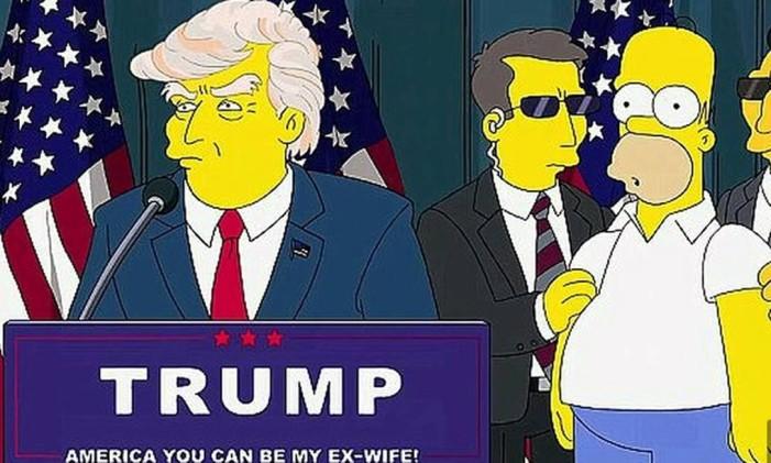 Trump nos Simpsons Foto: Reprodução