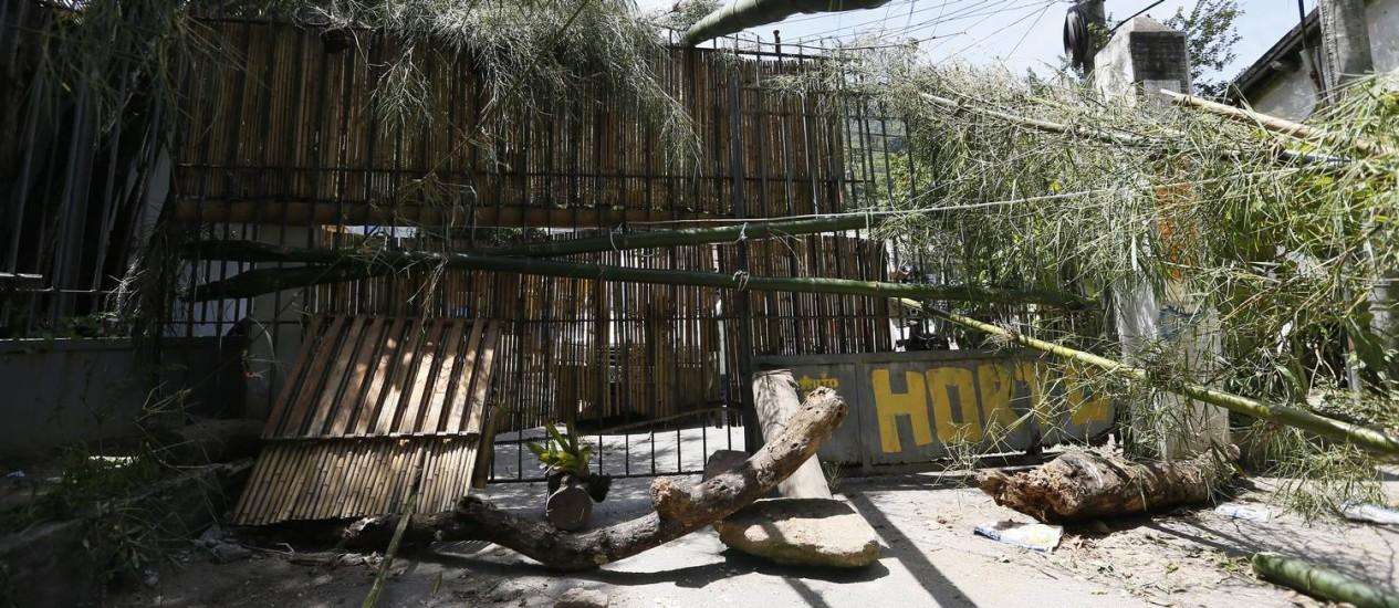Barricada montada no Horto Foto: Pablo Jacob / Agência O Globo