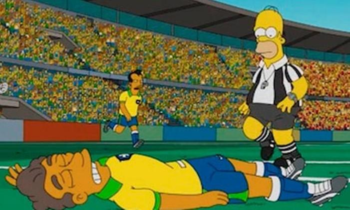Neymar nos Simpsons Foto: Reprodução