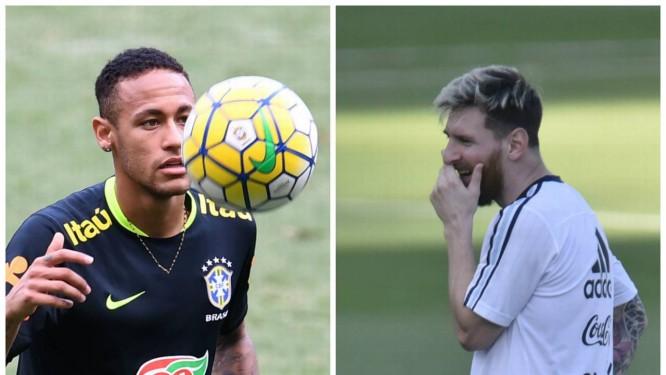 Os amigos Neymar e Messi se enfrentam nesta quinta d90da5e9d5aab