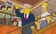 """Trump apareceu como presidente em episódio de """"Os Simpsons"""" em 2000"""