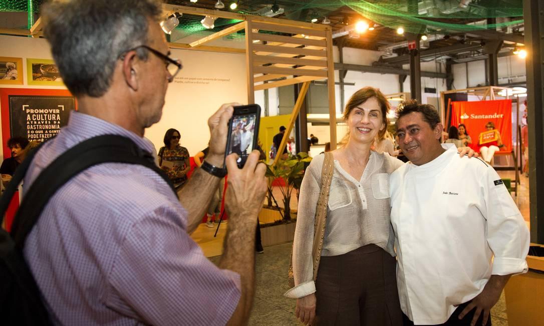 No evento, o Batista assina o picadinho do quiosque do CT, que leva o nome dele Agência O Globo