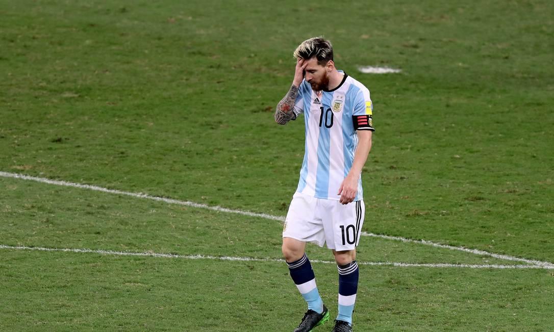 O desânimo de Messi na vitória brasileira no Mineirão Eugenio Savio / AP