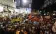 Protesto de de funcionários públicos lotou o centro da cidade